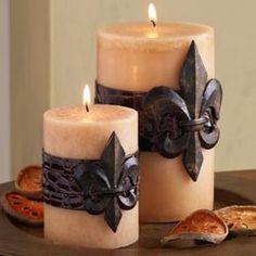 Fleur de Lis Candles