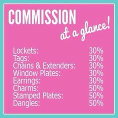 Commission schedule for Origami Owl Jewerly #joinmyteam