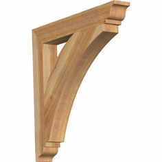 Dimensions: 4-in W x 30-in D x 30-in H. Authentic detail and craftsmanship. Crafted from the finest North American woods. Made in the USA. Perfect for interior or exterior use. Ekena Millwork Thorton Traditional Rough Sawn 4-in x 30-in x 30-in Western Red Cedar Wood Bracket in Brown | BKT04X30X30THR01RWR Red Cedar Wood, Western Red Cedar, Cedar Walls, Cedar Posts, Garage Pergola, Window Awnings, House Awnings, House Roof, Pergola Attached To House