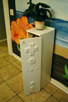 Cute video game cabinet #storage #videogames #diyprojects