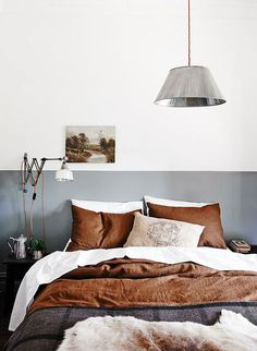 Brown and grey bedroom style