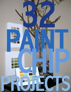 Chip Art: 32 Paint Chip Projects - Learn what you can make with all of those paint chips you have left over from home decorating projects Cute Crafts, Crafts To Do, Creative Crafts, Arts And Crafts, Paper Crafts, Paper Paper, Kraft Paper, Tissue Paper, Paint Chip Art