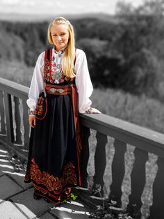 Girl in bunad in Norway Norway People, Norway Culture, Norwegian Clothing, Culture Clothing, Russian Fashion, Russian Style, Women's Fashion, Folk Costume, Historical Clothing
