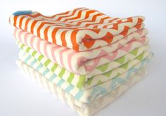 Baby Swaddling Blanket - Organic Cotton Jersey Knit Chevrons - Modern Organic Baby Bedding - A Newborn gift idea by Cwtch Bugs