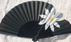 Desigual inspired black hand fan with daisy by Kate Dengra