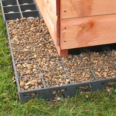 How to garden shed base