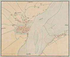 Tiel-plattegrond omstreeks 1560 van Jacob van Deventer.