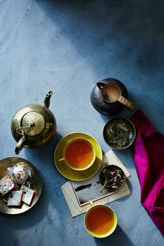 Move over coffee - it's time for tea. Did you happen to see the latest  issue of Conde Nast Traveler? Inside there is an article on tea ceremonies  around the world beautifully shot by Anna Williams and gorgeously styled by  Amy Wilson. The moment I saw this spread in the magazine I wished I could  have been a part of it. I love how something as common as tea canbe  interpreted and revered so differently around the globe. Each with its own  peculiarities and rituals.  I'm tempted to…