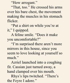"""mor-rigan: """"Cassian and Azriel be like """""""