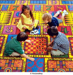 These floor tiles are awesome!! Kids can actually play board games on them