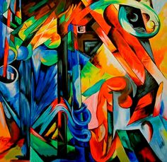 "Franz Marc - Pioneer of Spiritual Abstraction....""Forrest with Squirrels"""