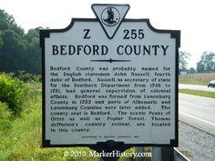 virginia beach bedford county virginia history   Bedford County Z-255   Marker History