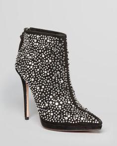 Jean-Michel Cazabat Pointed Toe Platform Booties - Francesca Studded High Heel