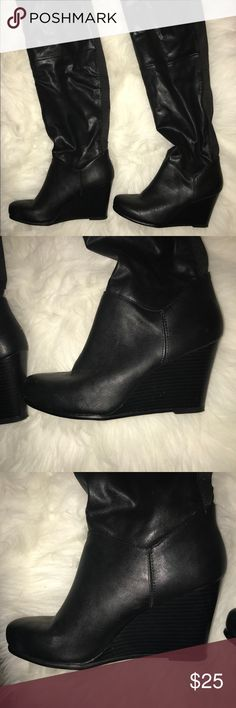Wedge Knee High Boots  Item is in good condition only worn once no visible signs of wear and tear. & Other Stories Shoes Over the Knee Boots