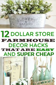 Farmhouse decor hacks you can get at the Dollar Store. This would be great for home decor on a budget. # easy Home Decor 12 Dollar Store Farmhouse Decor Hacks that are Easy and Super Cheap · Homebody Diy Home Decor On A Budget, Easy Home Decor, Decorating On A Budget, Home Decor Bedroom, Cheap Home Decor, Interior Decorating, Decorating Hacks, Budget Bedroom, Bedroom Ideas