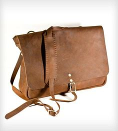 Post+Adjustable+Messenger+Bag+by+KMM+Leather+on+Scoutmob+Shoppe  For work, little pricey for work tough : /