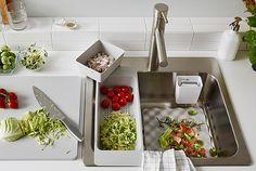 colander and cutting board over sink; grundvattnet, ikea.
