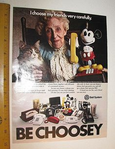 1978 Disney Mickey Mouse BELL SYSTEM TELEPHONE PHONE AD