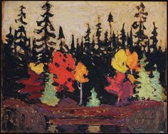 Tom Thomson, Black Spruce and Maple, 1915 - Art Gallery of Ontario   West Wind