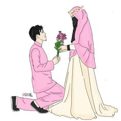 Read Couple Halal from the story Gambar Muslimah by (Zhafira Rochimi) with reads. Wedding Couple Cartoon, Love Cartoon Couple, Cute Couple Art, Cute Love Cartoons, Cute Muslim Couples, Muslim Girls, Cute Couples, Couple Hijab, Best Facebook Profile Picture