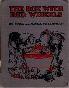 vintage kids book the Box with Red Wheels by OnceUponABookshop, $6.50