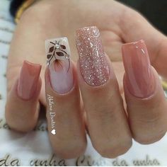 2019 Marvelous Nail Art Designs - Naija's Daily - The best fashion types in the world fashionlife Cute Nails, Pretty Nails, My Nails, Glitter Nails, Perfect Nails, Gorgeous Nails, Pink Nail Designs, Nails Design, Best Acrylic Nails