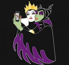Selfie Disney evil characters (BEST FRIENDS!) @Marianne Smith-Dean