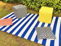 #blue #white #plastic #rugs #interiordesign #stripes #bedroom #bathroom #outside #inside #home