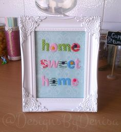 Handmade Vintage Shabby Chic Home Decor Frame Home Sweet Home Wall Decor Gift