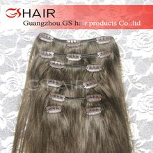 Best selling strong weft virgin cheap 100% human hair clip in hair extension