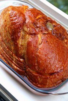 El jamon ahumado con la salsa antes de hornearse