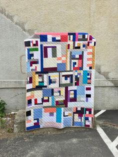 solid improv throw quilt by Salty Oat Quilt Top, I Am Happy, Fabric Scraps, Quilt Making, Quilts, Blanket, My Love, Quilt Modern, Blog