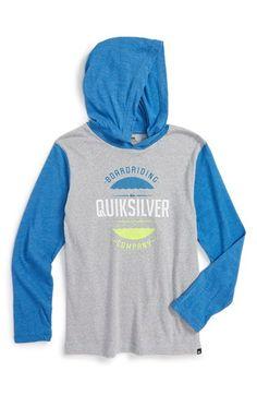 c54d4d24ff0b4 Quiksilver  Super Dooper  Logo Graphic Hooded T-Shirt (Big Boys) Dye