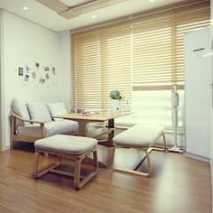 Viviendo verde minimalist living room | homify Marginata Plant, Minimalist Living, Blinds, Divider, Curtains, Interior Design, Living Room, Furniture, Home Decor