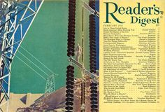 Read Magazines, Readers Digest, Vintage Art, The Past, Commercial, Modernism, Reading, Cover, February