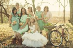 Love the idea of all different bridesmaid dresses in similar but not necessarily exactly matching tones!