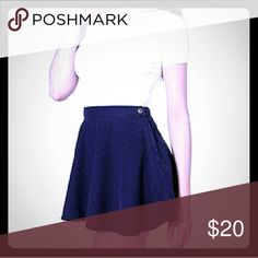 American Apparel navy circle skirt Worn twice, excellent condition, beautiful shape ???? these will now be hard to find since the company is goin outta business! Sorry for the poor quality cover pic-- rest assured the skirt is genuine, I'm just not at home at the moment and wanted to make that listing American Apparel Skirts Circle & Skater