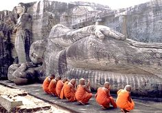 Located in Sri Lanka, Polonnaruwa is a site which the most popular Buddha Statue lies down. The monastery of the stone established in 12th century.