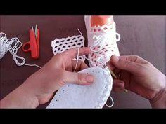 Beyaz Gelincik Ev Ayakkabısı Patik Modeli - YouTube