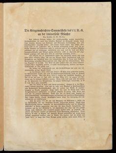 Meister, Aloys (1866-1925): Die Kriegsnachrichten-Sammelstelle des VII. A.-K. an der Universität Münster. 1916. - Gehört zur Pinnwand: Erster Weltkrieg (1914-1918)