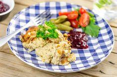 Liha-perunasoselaatikko – Hellapoliisi Fodmap, Risotto, Potato Salad, Good Food, Healthy Recipes, Healthy Food, Potatoes, Meat, Chicken