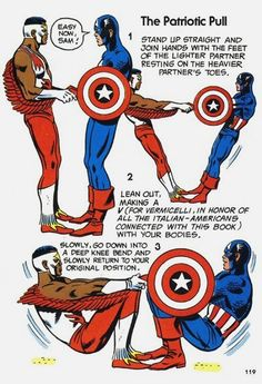 THE BRONZE AGE OF WORKING OUT Visions Of The Mighty Marvel Comics Strength And Fitness Book Circa 1976 The Patriotic Pull