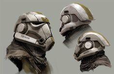 Stormtrooper Helmet Redesign, Joyce Koo on ArtStation at https://www.artstation.com/artwork/gomBK
