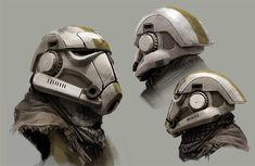 Stormtrooper Helmet Redesign, Joyce Koo on ArtStation at https://www.artstation.com/artwork/gomBK