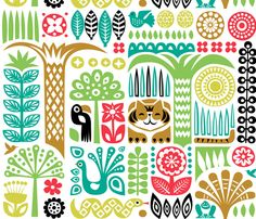 Day in the Jungle by dennisthebadger on Spoonflower.