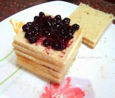 Sandwich Bread cake ( No bake recipe from left over bread )