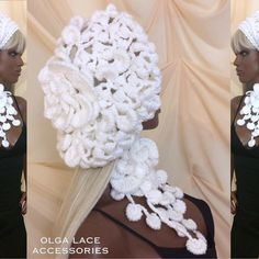 "Кружевной берет ""Sharmel"" от Olga Lace. #crochet #olgalace #designer #hat #crochethat #whitelace #lace #crochetlace #вязанаяшапка #вязаныйберет #fashion #style #olgalacestyle by olgalace_fashiondesigner"