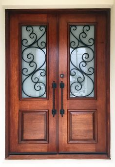 La Spezia. Wood and Wrought Iron Door