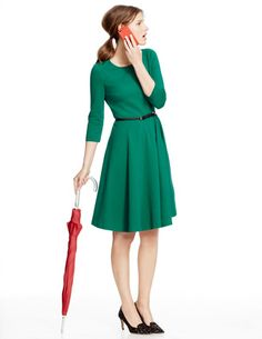 Ponte Skater Dress. Would be so cute for work!