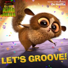 Break out those beats because it's party time! All new episodes of All Hail King Julien are now streaming on Netflix! #KingJulien